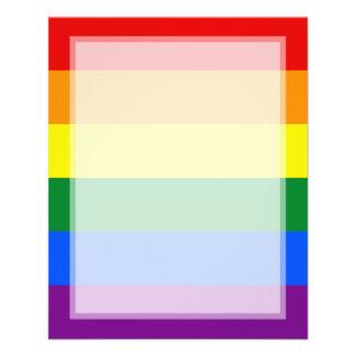 """LGBT Gay Pride Rainbow Flag Stripe 4.5"""" X 5.6"""" Flyer"""