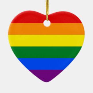 LGBT Gay Pride Rainbow Flag Stripe Ceramic Ornament