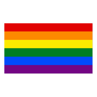 LGBT Gay Pride Rainbow Flag Stripe Double-Sided Standard Business Cards (Pack Of 100)