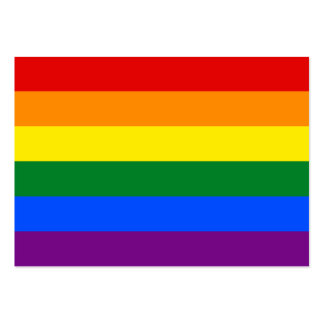 LGBT Gay Pride Rainbow Flag Stripe Large Business Card
