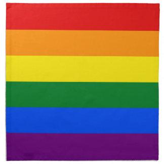 LGBT Gay Pride Rainbow Flag Stripe Napkin