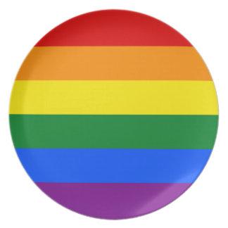 LGBT Gay Pride Rainbow Flag Stripe Plates