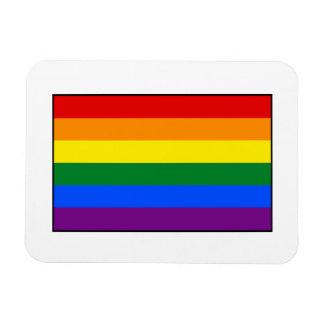 LGBT Gay Pride Rainbow Flag Stripe Flexible Magnets