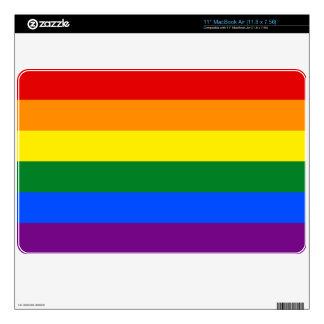 LGBT Gay Pride Rainbow Flag Stripe Skin For MacBook