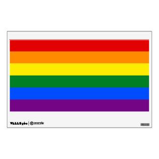 LGBT Gay Pride Rainbow Flag Stripe Wall Decal