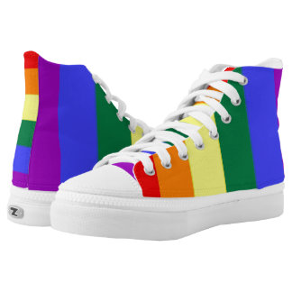 LGBT Gay Pride Rainbow High-Top Sneakers
