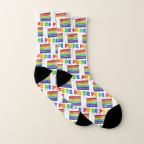 LGBT Gay Pride Rainbow Layer Wedding Cake Slice Socks