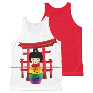 LGBT Geisha Doll All-Over-Print Tank Top