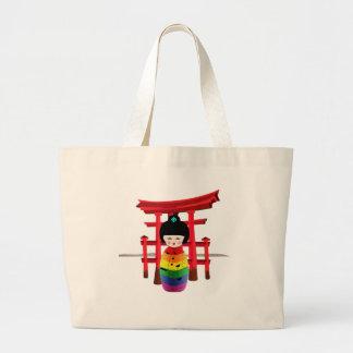 LGBT Geisha Doll Large Tote Bag