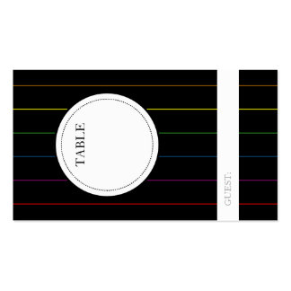 LGBT Guest Seating Table Number Indicator Cards