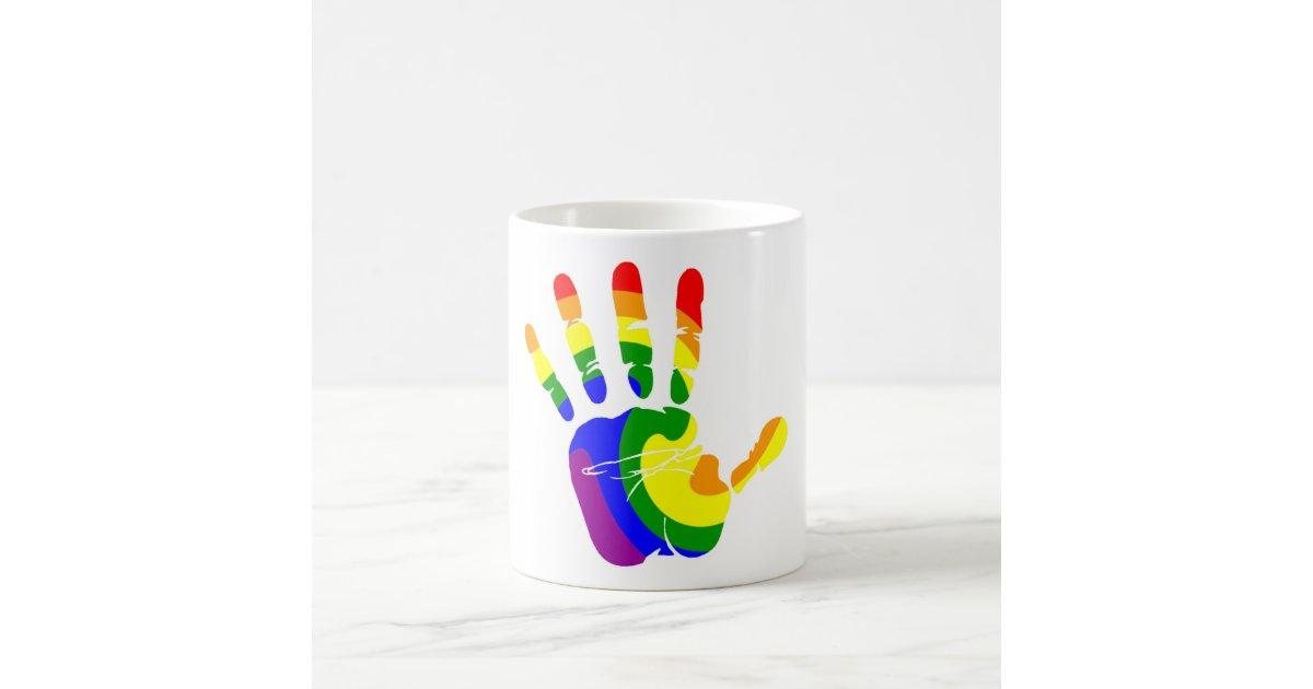 LGBT Handprint Coffee Mug Zazzle