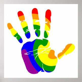 LGBT Handprint Póster