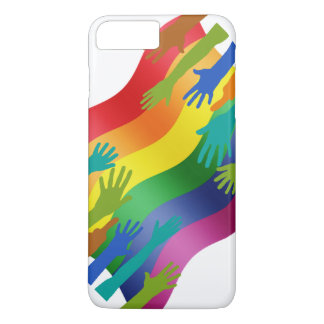 LGBT Hands on Flag iPhone 7 Plus Case