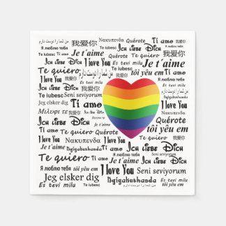 LGBT I Love You Paper Napkin