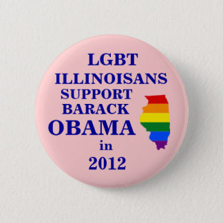 LGBT Illinoisans for Obama 2012 Button