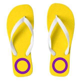 LGBT Intersex Pride Flag Colors Flip Flops