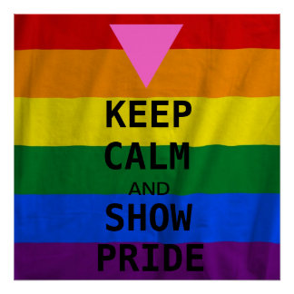 LGBT Keep Calm and Show Pride Poster