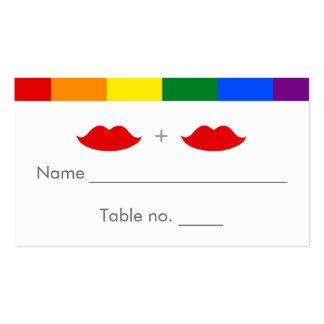 LGBT Lesbian Lips Rainbow Wedding Business Card