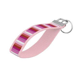 LGBT Lesbian Pride Flag Colors Wrist Keychain