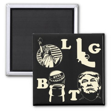 LGBT Liberty Guns Beer Trump  #USAPatriotGraphics Magnet