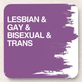 LGBT LIST BEVERAGE COASTERS