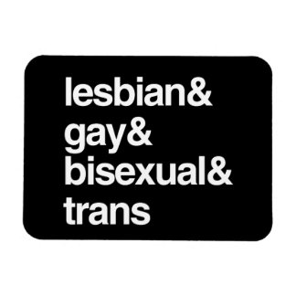 LGBT LIST RECTANGULAR MAGNETS