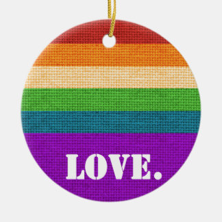 LGBT Love Ceramic Ornament