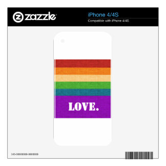 LGBT Love iPhone 4S Decal