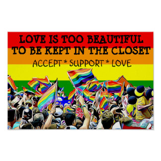 LGBT Love is Beautiful Parade Rainbow POSTER