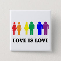 LGBT love is love. Button