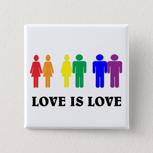 LGBT love is love Button