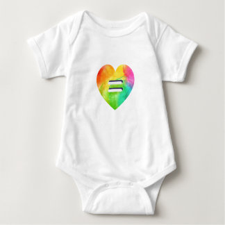 LGBT Love is Love Equality Rainbow Heart Equal Baby Bodysuit
