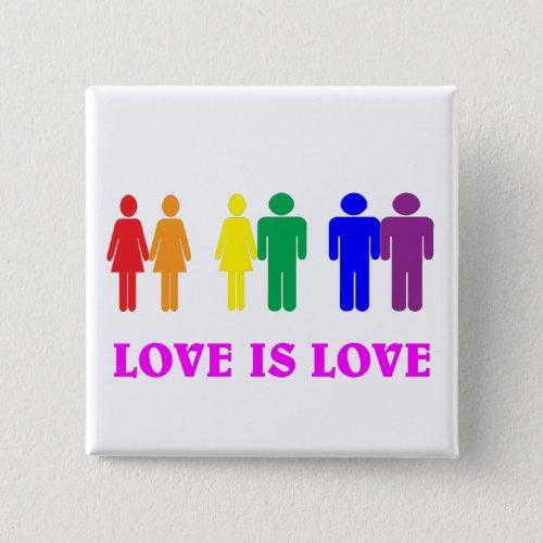 LGBT love is love Pinback Button