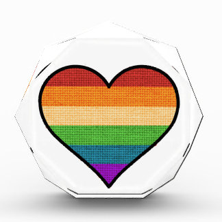 LGBT Love is Love Rainbow Heart Award