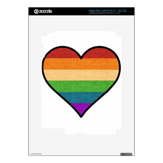 LGBT Love is Love Rainbow Heart iPad 3 Skin