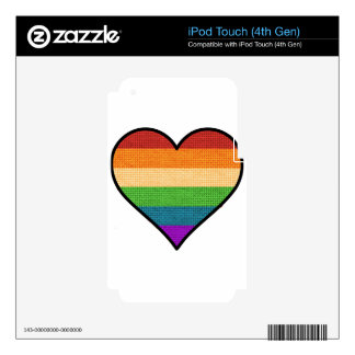 LGBT Love is Love Rainbow Heart iPod Touch 4G Decals