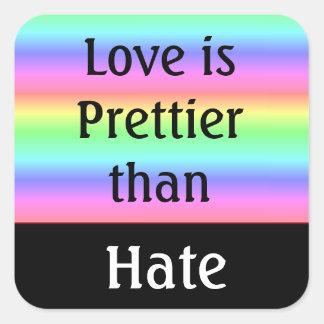 lgbt Love is Prettier than Hate Sticker