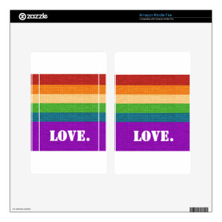 LGBT Love Kindle Fire Decal