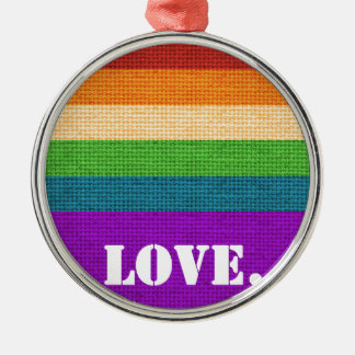 LGBT Love Metal Ornament
