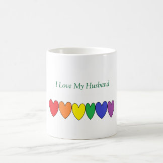 LGBT love my husband mug
