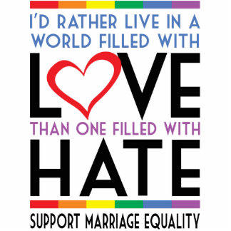 LGBT Love Over Hate Statuette