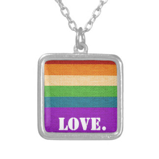 LGBT Love Silver Plated Necklace