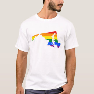 LGBT Maryland, US state flag map T-Shirt