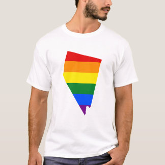 LGBT  Nevada, US state flag map T-Shirt