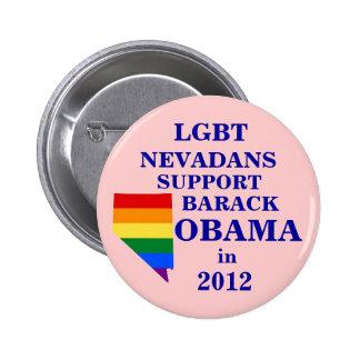 LGBT Nevadans para Obama 2012 Pin Redondo De 2 Pulgadas
