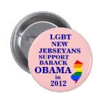 LGBT New Jerseyans for Obama 2012 Pin