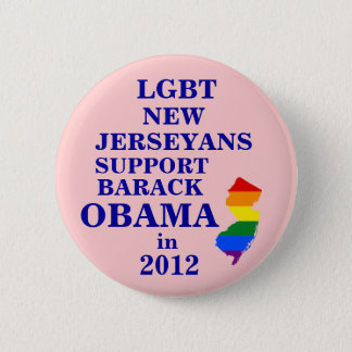 LGBT New Jerseyans for Obama 2012 Pinback Button