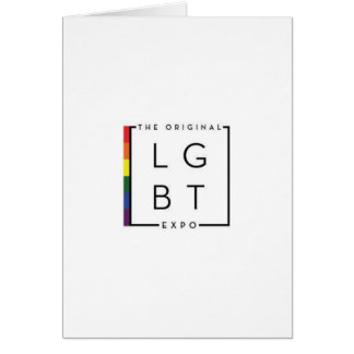 LGBT note card with original expo logo