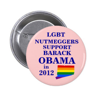 LGBT Nutmeggers Connecticut para Obama 2012 Pins