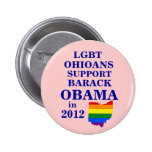 LGBT Ohioans Connecticut para Obama 2012 Pin
